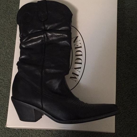 Steve Madden Spurs Cowboy Boots